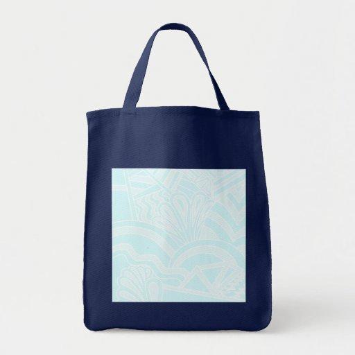 Diseño muy azul claro del fondo del estilo del art bolsas de mano