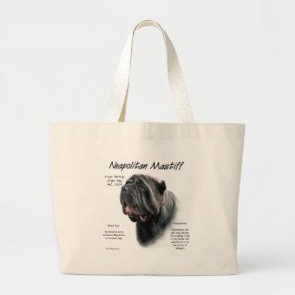 Diseño napolitano de la historia del mastín negro bolsas de mano