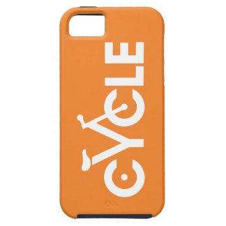 Diseño, naranja y blanco del ciclo iPhone 5 funda