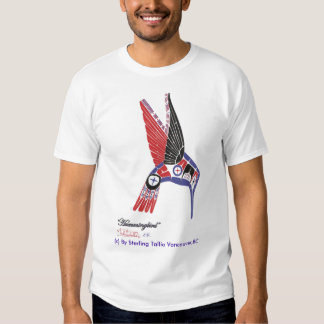 Diseño nativo del colibrí del artista de la poleras