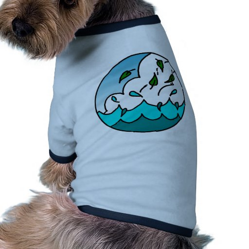 Diseño natural del flujo ropa de mascota