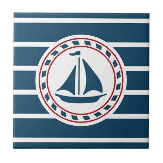 Diseño náutico azulejo cuadrado pequeño