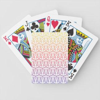 Diseño náutico brillante del ancla baraja cartas de poker