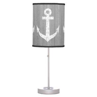 Diseño náutico de la lámpara de mesa de la impresi
