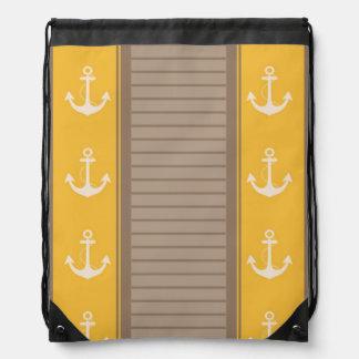 Diseño náutico de la raya mochila