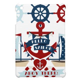 Diseño náutico del barco de vela del ancla del mar iPad mini cobertura