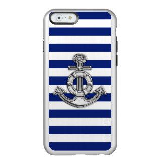 Diseño náutico del salvador del tema en azules funda para iPhone 6 plus incipio feather shine