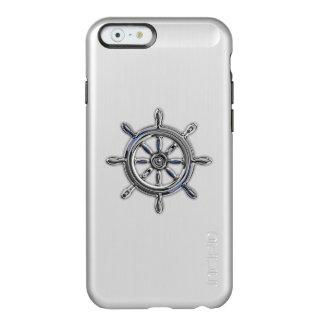 Diseño náutico del tema de la rueda funda para iPhone 6 plus incipio feather shine