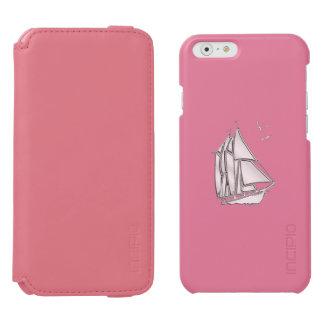 Diseño náutico del velero del tema funda billetera para iPhone 6 watson