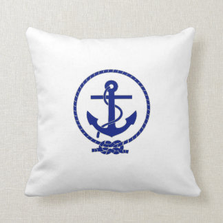 Diseño náutico firmemente anclado del ancla almohadas