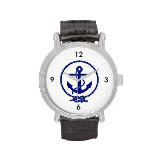 Diseño náutico firmemente anclado del ancla relojes