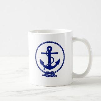 Diseño náutico firmemente anclado del ancla taza de café