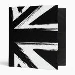Diseño negro abstracto retro del Union Jack