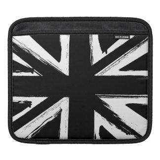 Diseño negro abstracto retro del Union Jack Funda Para iPads