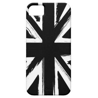 Diseño negro abstracto retro del Union Jack iPhone 5 Fundas
