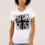 Diseño negro abstracto retro del Union Jack Camiseta