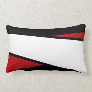Diseño negro, blanco, rojo de las rayas, almohada
