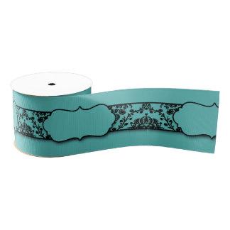 Diseño negro de la cinta del damasco del trullo lazo de tela gruesa
