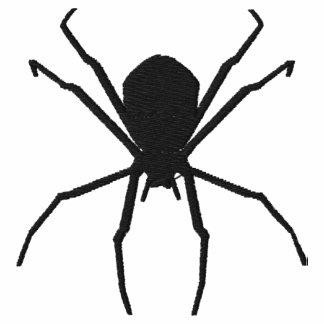 Diseño negro de la fantasía del gótico de Hallowee Polo Bordado