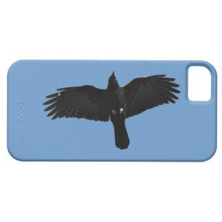 Diseño negro de la foto del Cuervo-amante de Corvi iPhone 5 Case-Mate Cobertura
