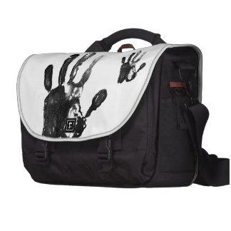 Diseño negro de la impresión de la palma bolsas de portátil