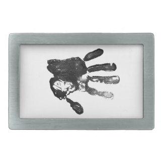 Diseño negro de la impresión de la palma hebillas de cinturón rectangulares