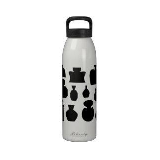Diseño negro de las botellas del olor botellas de agua reutilizables