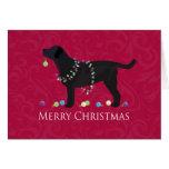 Diseño negro de las Felices Navidad del Tarjeta De Felicitación