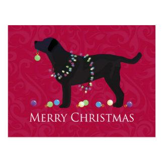 Diseño negro de las Felices Navidad del Tarjetas Postales