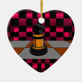 Diseño negro de oro 3D del ajedrez del caballero d Ornato