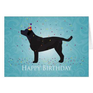 Diseño negro del feliz cumpleaños del laboratorio tarjeta de felicitación