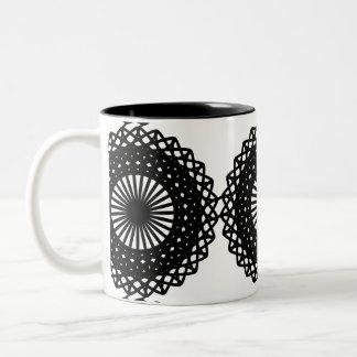 Diseño negro del modelo del cordón Personalizado Tazas