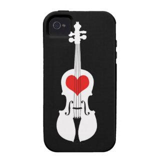 Diseño negro del violín con la caja del teléfono vibe iPhone 4 fundas