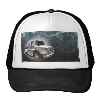 Diseño negro delantero del camión del casquillo de gorra