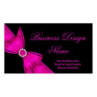 Diseño negro elegante 2 del arco del diamante de tarjetas de visita