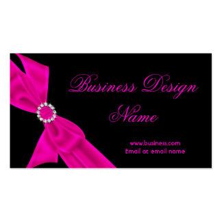 Diseño negro elegante del arco del diamante de las tarjetas de visita