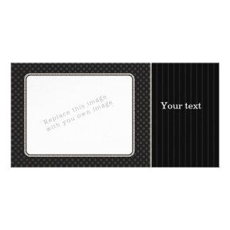 Diseño negro elegante tarjeta fotografica