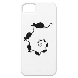 Diseño negro lindo del ratón. Espiral de ratones iPhone 5 Funda