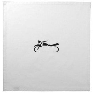 Diseño negro liso de la motocicleta servilletas