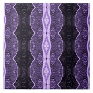 diseño negro púrpura bonito del cordón azulejo cuadrado grande