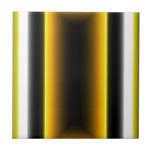 Diseño negro y amarillo azulejo cuadrado pequeño