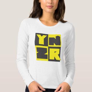 Diseño negro y amarillo de la serie de YNZR Camisas