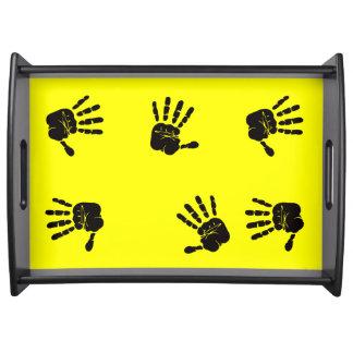 Diseño negro y amarillo de las impresiones de la bandeja