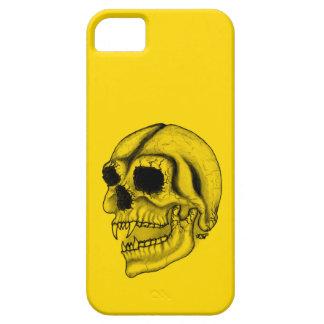 Diseño negro y amarillo del cráneo del vampiro iPhone 5 Case-Mate coberturas