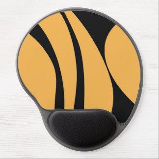 Diseño negro y amarillo mousepad. del modelo alfombrilla de raton con gel