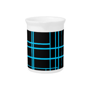Diseño negro y azul del laser jarrón