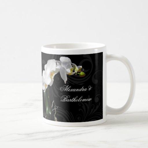 Diseño negro y blanco del recuerdo personalizado d tazas