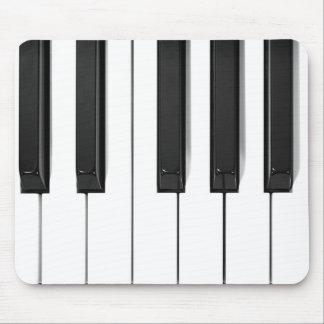 Diseño negro y blanco Mousepad del teclado de pian