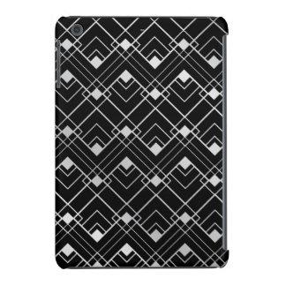 Diseño negro y de plata del art déco del vintage funda de iPad mini