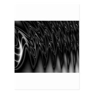 Diseño negro y de plata fresco de la onda ligera tarjetas postales